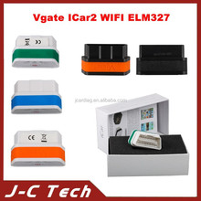 2015 Newest Vgate iCar2 WIFI OBD ELM327 Code Reader iCar2 for IOS iPhone iPad Android PC 6 Colors Available! Free Shipping