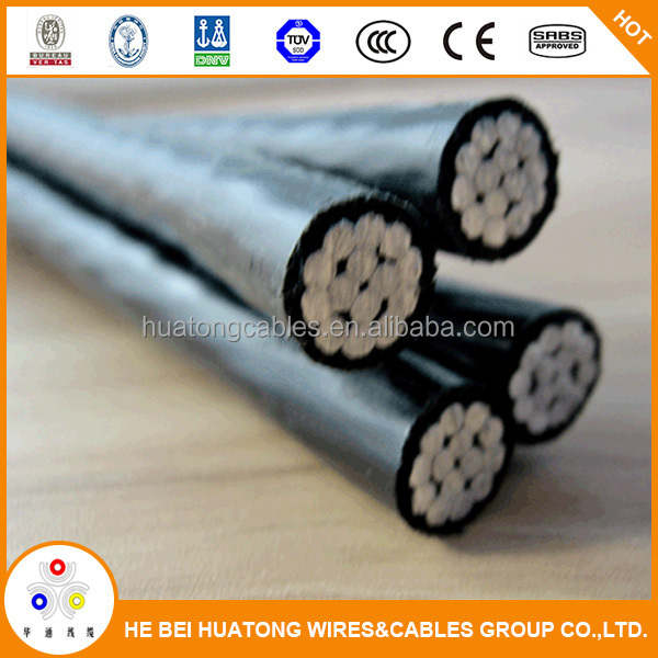 Duplex/Triplex/Quadplex alumium conductor XLPE insulated 0.61/kv ABC cable