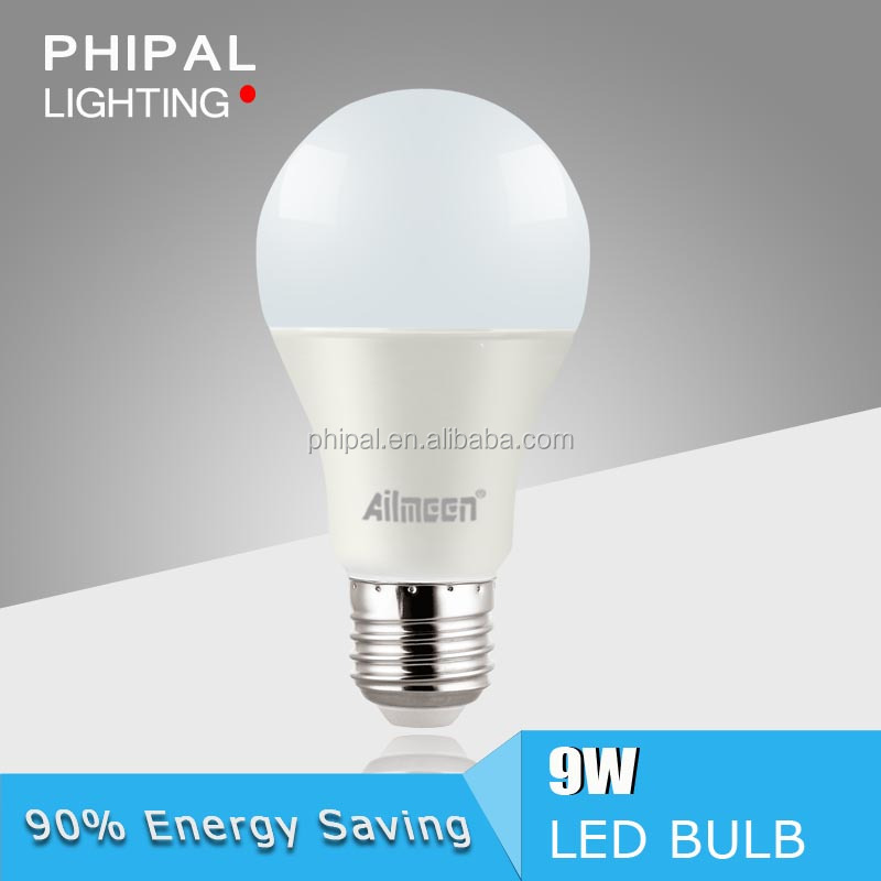 Life time>25000 A60 9W high power energy saving LED bulb lamp CE/RoHS