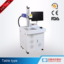 Hot sale 10w 20w 30W Good quality mini portable fiber laser marking machine for metal and stainless steel