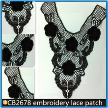 China FaNew design embroidery pu leather neck /collar lace of ladies CB2678