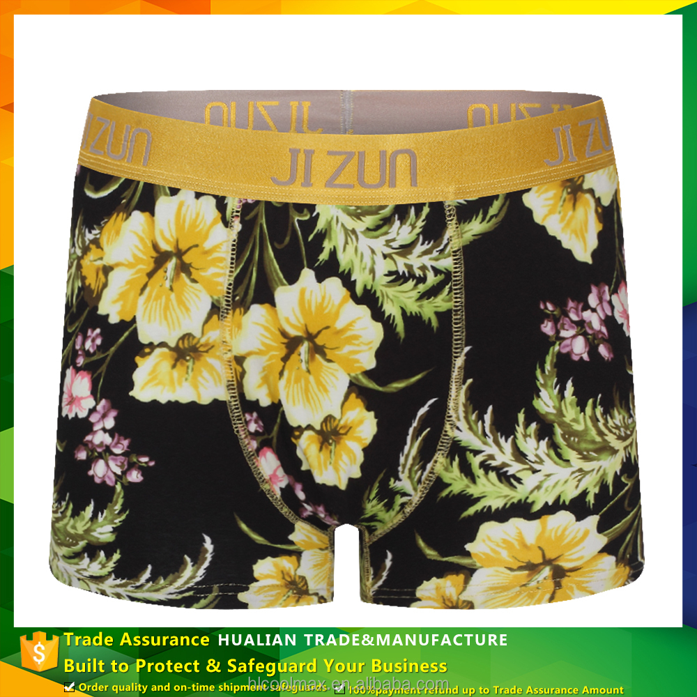Fashionable Mens Boxers With Water Printing Boy Sexy Boxers Men Underwear