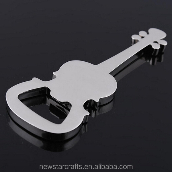 Manufacturing custom metal Music guitar zinc alloy bottle openers
