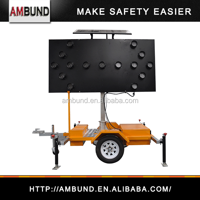 Solar LED Trailer Mounted Arrow Boards by manufacture LED arrow board