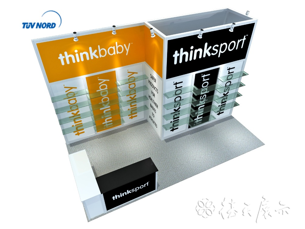Display stand product glass exhibition showcase exhibition case for advertising and promotion