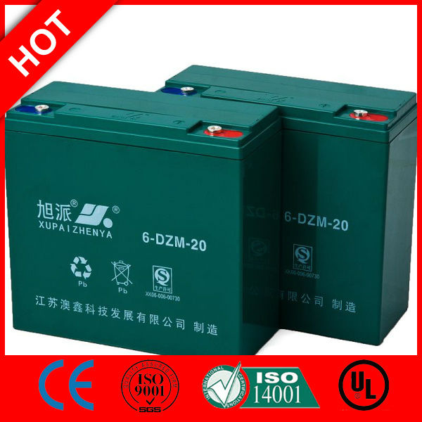 XUPAI Battery e bike battery charger 12v 20ah lead acid battery e rickshaw battey QS CE ISO
