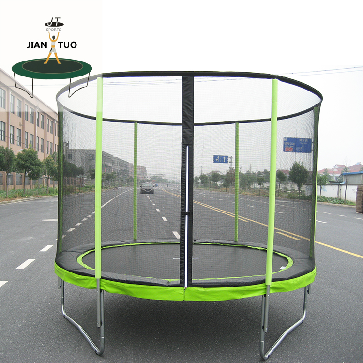 JianTuo Sports 6 8 10 12 13 14 15 16 Feet Kids Used Big High Jump Trampoline With Safety Net