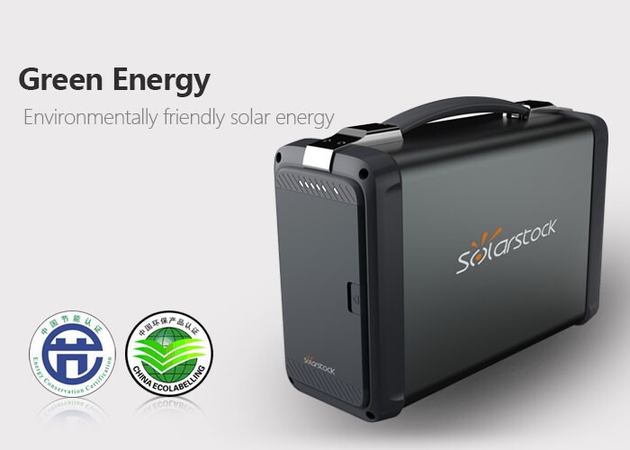 400W Small Portable Solar Power Generator for Camping, Lighting, Emergency