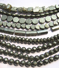 Genuine Pyrite beads, Tube, Cylinder, Heart, Round, Rectangle Flat Faceted stones