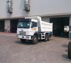 CHINA FAW 320hp 10tires 30ton left hand drive tipper truck