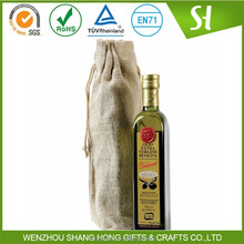 Alibaba China Cheap customized Printed Jute wine packing bags