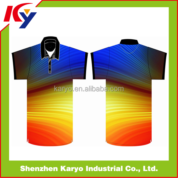 Custom Men's 100% Polyester Blank Plain Dyed Polo Shirts