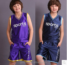 new style kids and adults basketball jersey uniform design color blue
