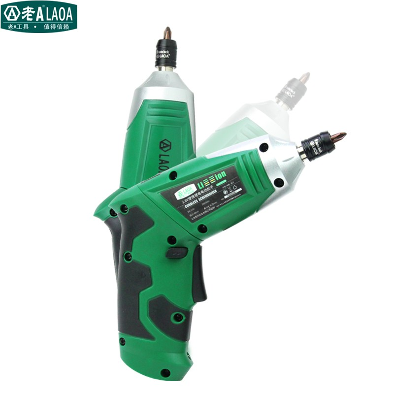 LAOA Multi functional 90 degree portable household 3.6V Li-ion battery electric cordless drill rechargeable screwdriver