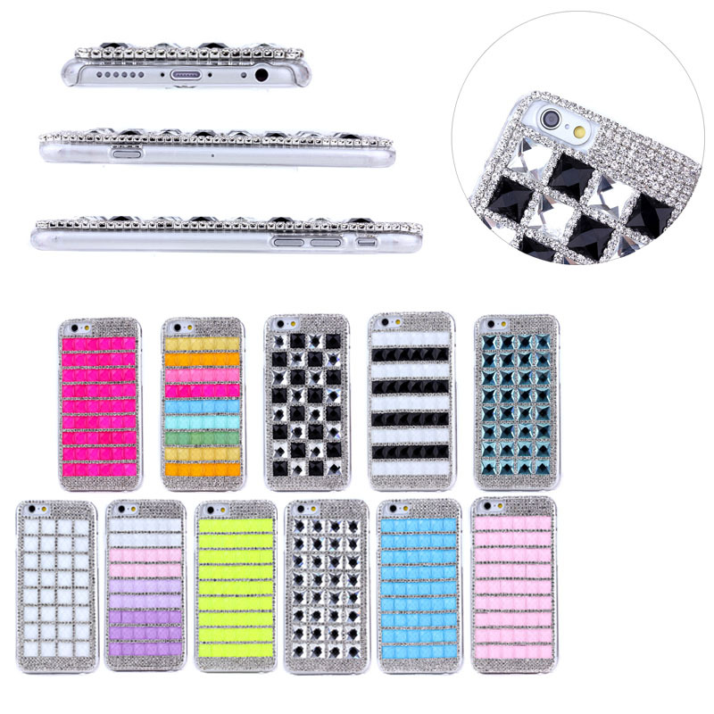 For iphone 6 bling back cover, shinny pc case for iphone6
