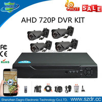 Best selling H.264 Combo CCTV HD 720P Cameras 4CH DVR HDMI Surveillance Camera Kit