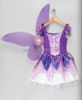 2014 Newest Fairy Purple Butterfly Dress&Wings!Ellie's Bridal Party dress / Girl's Flower Dresses
