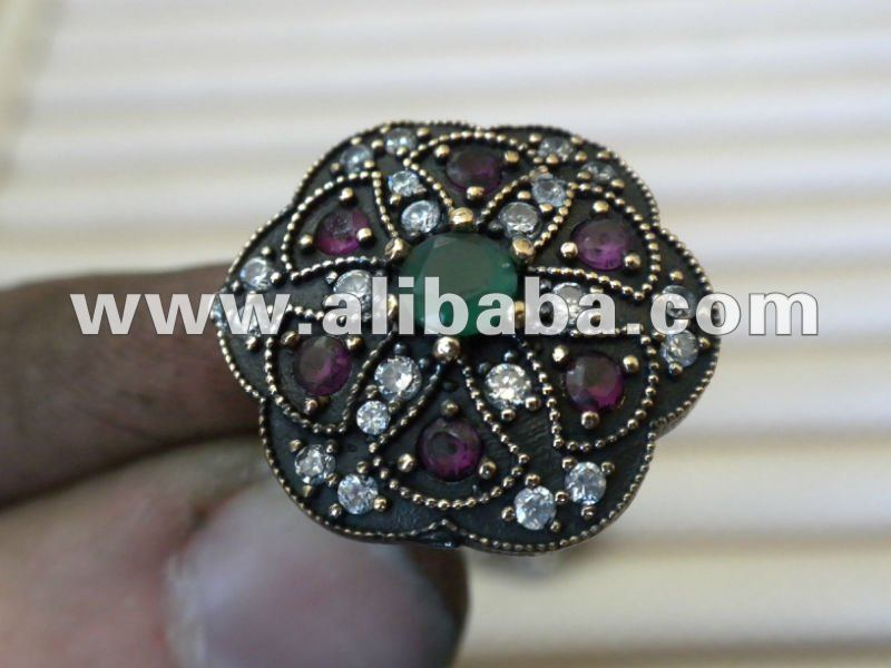 Ottoman Vintage Oriental Jewelry Silver 925 Gold 22k 21k 18k 14k 8k Finished or Mountings & Handmade Custom Order Rings Necklace