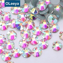 2088 Crystal AB German Intensive Glue SS16 Glass Flat Back Strass Crystal Wholesale Hot Fix Rhinestones For Bridal Wedding Dress