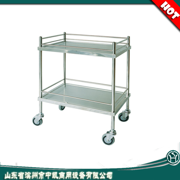 Hotsale Hospital 3-tier Stainless Steel Dressing Service Trolley