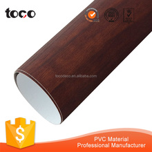 rigid wood color pvc kitchen cabinet door film for furniture