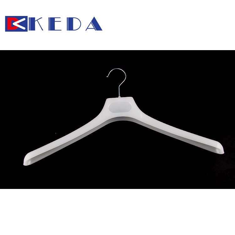 White rotating Metal hook drying cloth hanger wholesale factory plastic clothes hanger