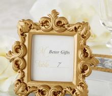 "Wedding Bridal Shower Favors ""Royale"" Gold Baroque Place Card/Photo Holder Min Photo Frame"