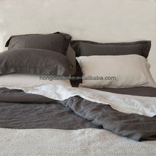 100%flax linen coverlet sets with enzyme washed