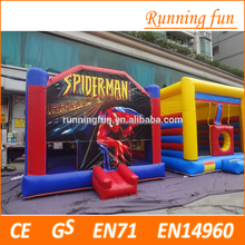 Cheap price!! inflatable spider-man bouncy castle / jumping castles with prices
