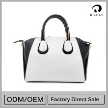 Luxury genuine leather fashion handbag leather tote bag