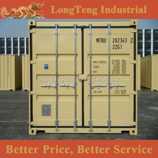 BV GL certified 20ft high cube sea box containers