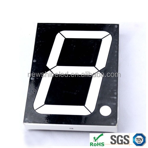 1 digital Single color 2.3 inch 7 segment led display for electric appliance and advertising showing