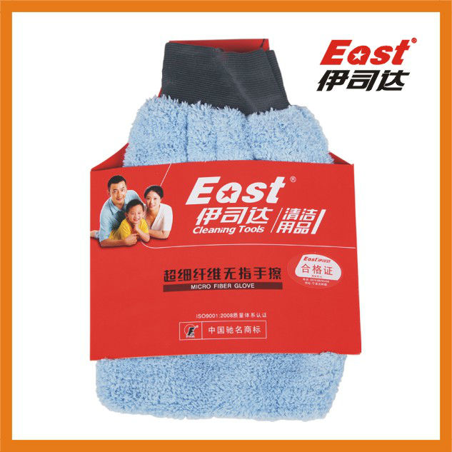 China BSCI microfiber wash mitt, microfiber glove for car cleaning