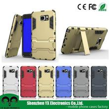 cheap price 2 in 1 standing armor phone case for samsung Note 5 case