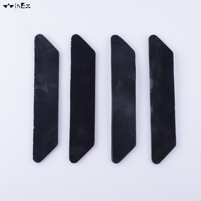 8 pcs Black carpet tape rug gripper pad anti curling rug gripper Anti Slip Straight Carpet Gripper for Corners and Edges
