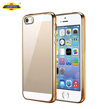 Clear Metal Case For IPhone 5S Se Transparent Electroplating Case