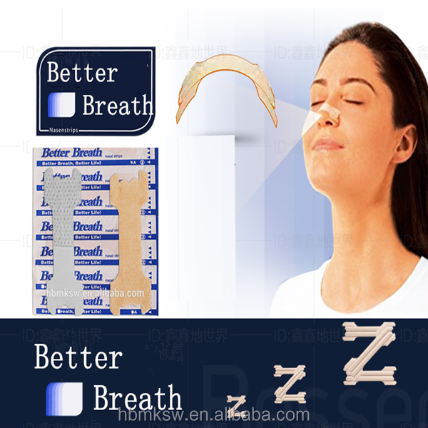 anti snoring better breath nose / anti snore nasal strips for nasal irrigation