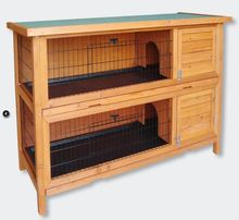 wholesale custom printed cheap outdoor handmade wooden easy clean large breeding rabbit cages