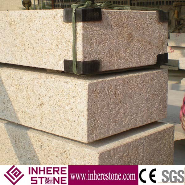 Yellow G682 granite Paveing block prices