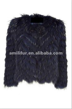 Night Blue Fur Jacket STY.NO. 3124