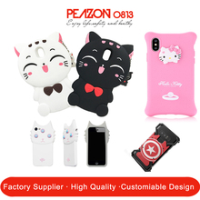 Custom Design Animal Shaped Liquid Silicon Phone Case Cover Supplier