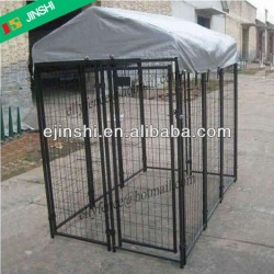 Outdoor Welded Wire Dog Run Kennel with Frame Top to Avoid Sushine,Rain and Snow