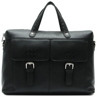 Office business horizontal version tote genuine leather bag for men