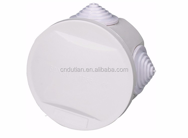 50*50mm IP55 electrical ABS plastic 4-way junction box