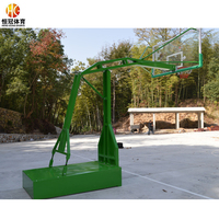 Basketball backboard and rim outdoor equipment standards