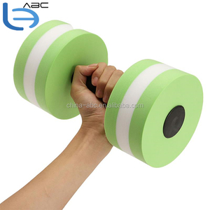 Waterproof Dumbbells Portable Water Aerobics Dumbbell EVA Foam Aquatic Barbell Fitness Pool Exercise