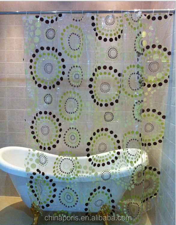 2016 HOT SALE!!! EU and USA best choose and fashionable priting YOUR LOGO shower curtain/bath curtain with lowest price IN CHINA