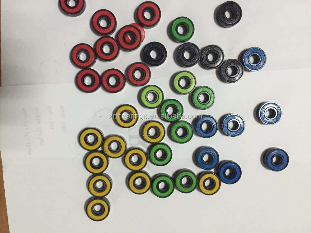 8*22*7mm 0.012kg fidget hand spinner bearing 608 ball bearing 608RS with many kinds of colored