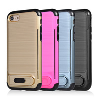 2017 aluminum cell phone cover for iPhone 7, with metal finished hard strong case for iPhone 7