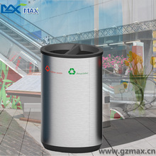 Airport & office Hot sale top open stainless steel stocked recycle garbage bin